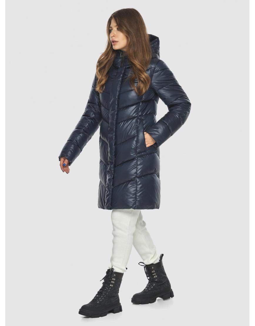 Удобная куртка синяя женская Ajento 22857 фото 6