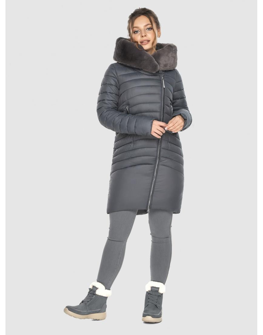 Серая подростковая зимняя куртка Ajento 24138 фото 5
