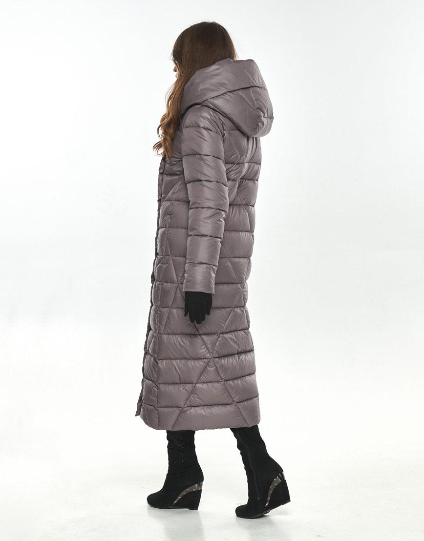 Пудровая модная длинная куртка женская Ajento 23795 фото 3