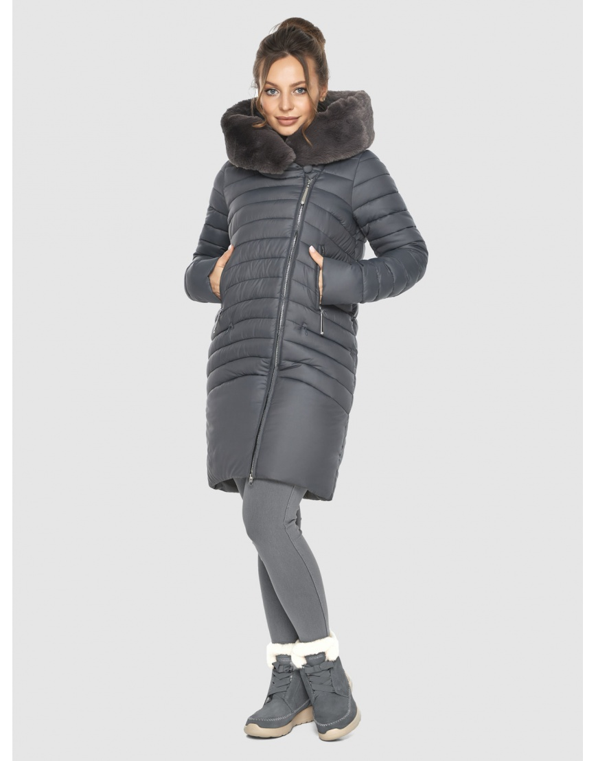 Серая подростковая зимняя куртка Ajento 24138 фото 6