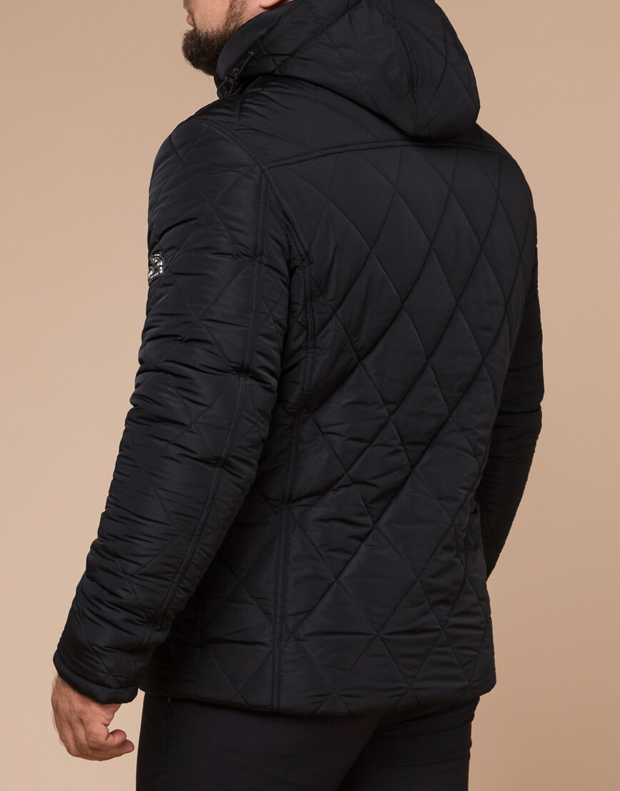 Мужская куртка зимняя цвет черный модель 19121 оптом фото 3
