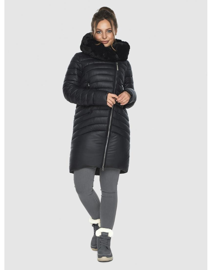 Зимняя подростковая чёрная куртка Ajento модная 24138 фото 2