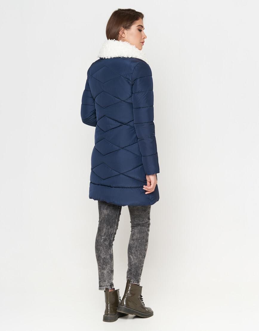 Куртка синяя женская на молнии модель 5266 фото 3