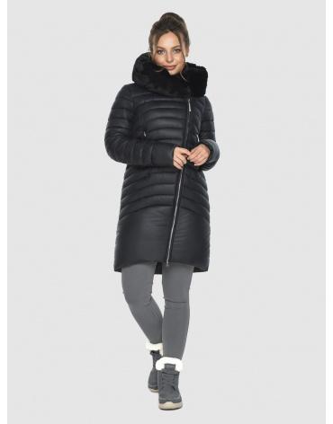 Зимняя подростковая чёрная куртка Ajento модная 24138 фото 1