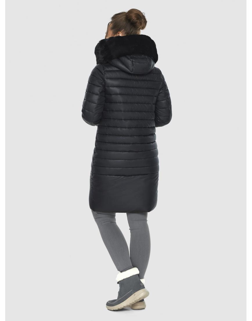 Зимняя подростковая чёрная куртка Ajento модная 24138 фото 4