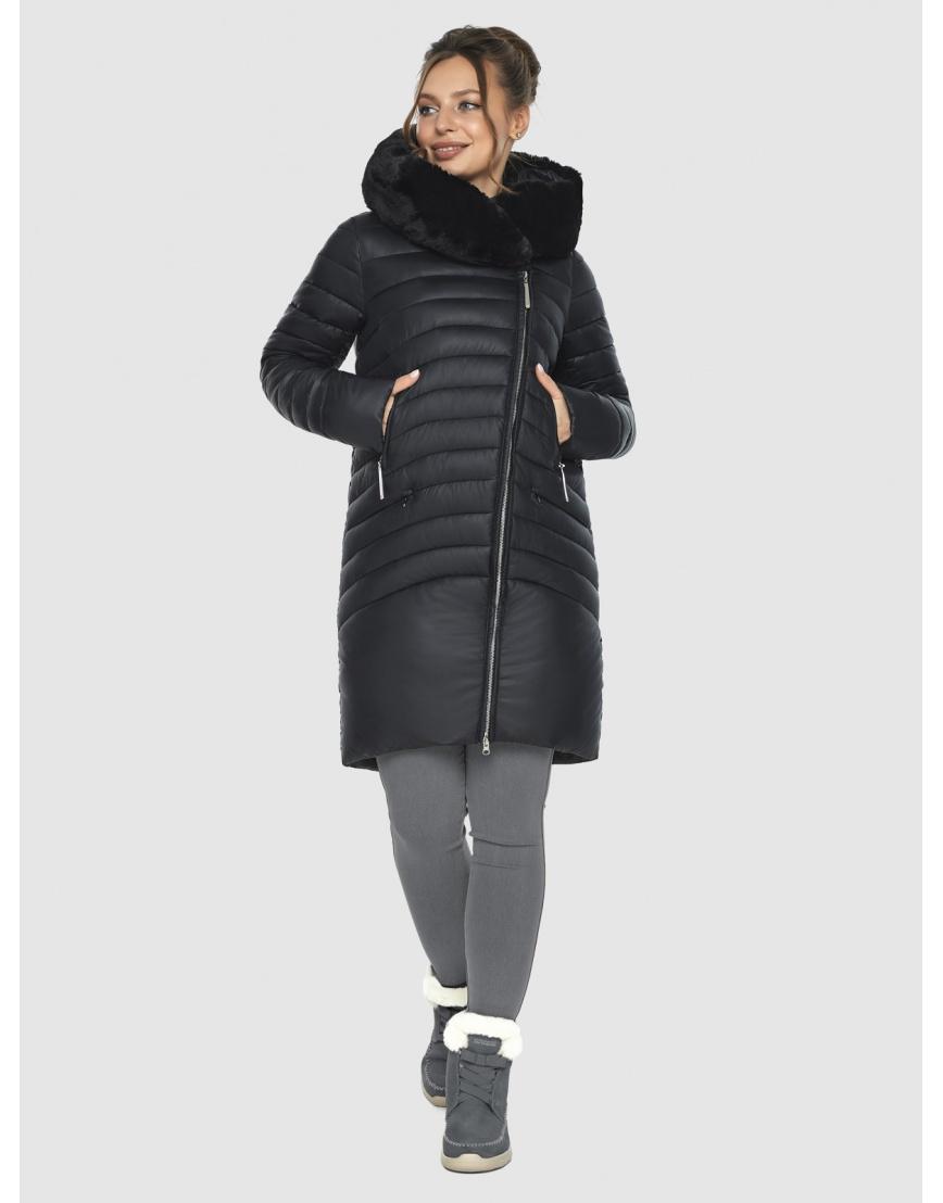 Зимняя подростковая чёрная куртка Ajento модная 24138 фото 6