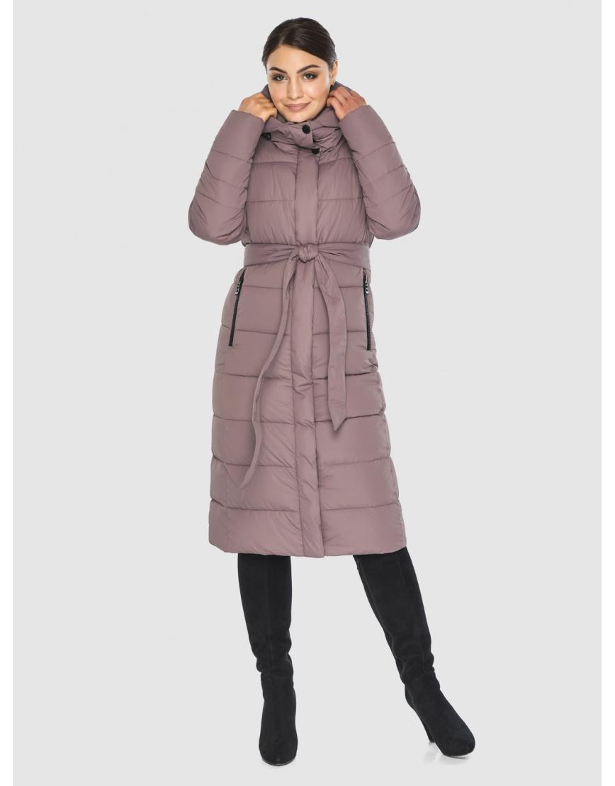 Длинная женская куртка Wild Club цвет пудра 538-74 фото 5