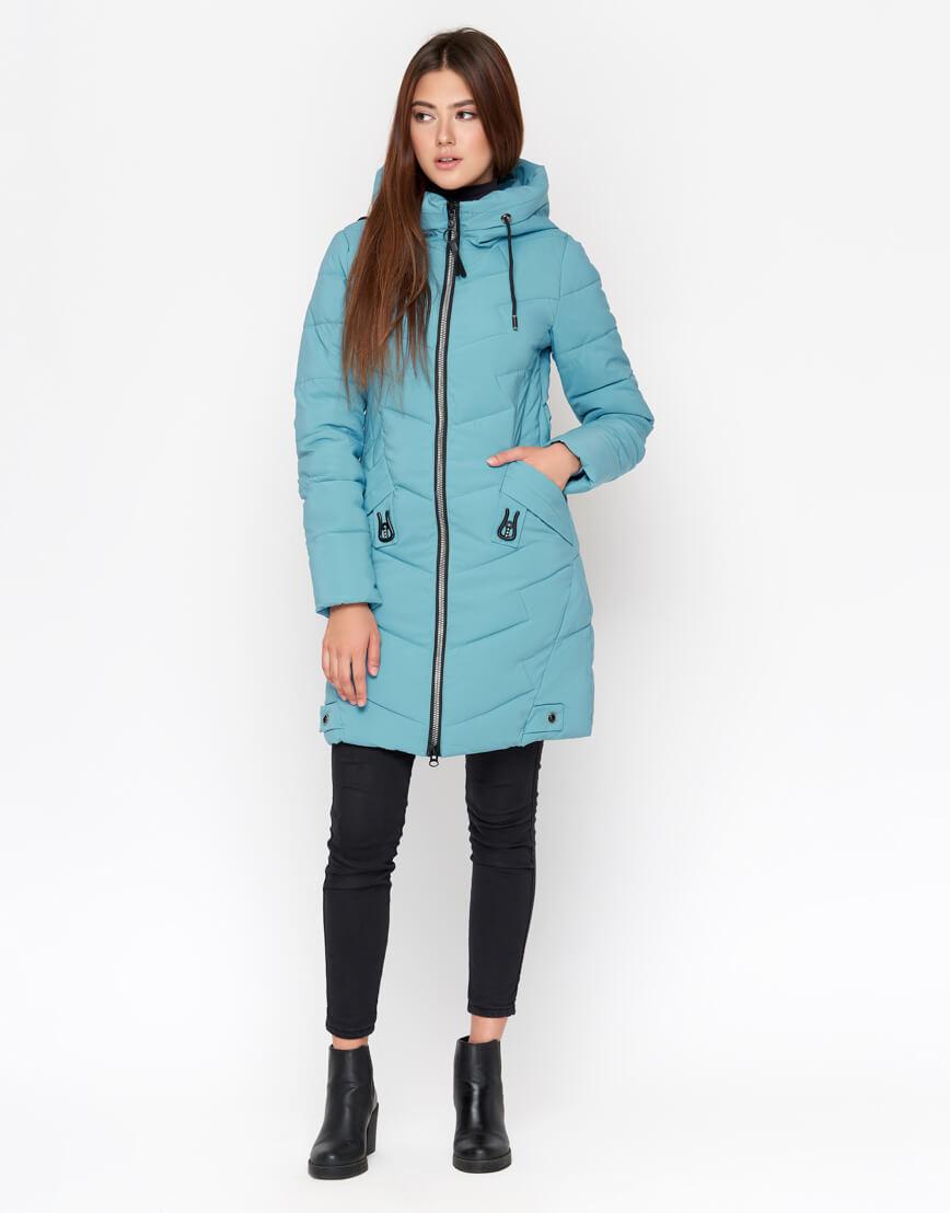Модная голубая куртка женская модель 806