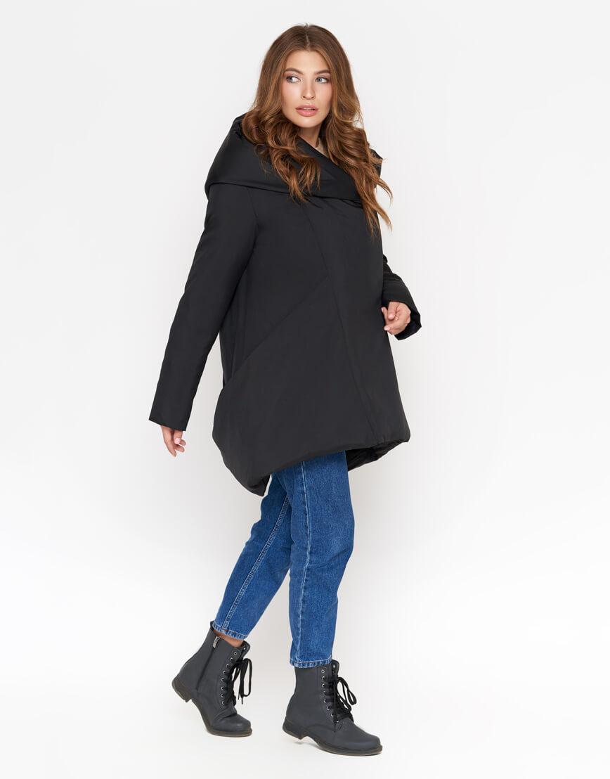 Черная зимняя куртка качественного пошива женская модель 2261