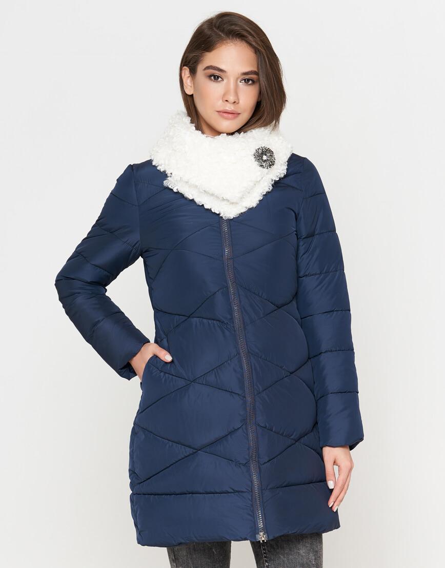 Куртка синяя женская на молнии модель 5266 фото 2