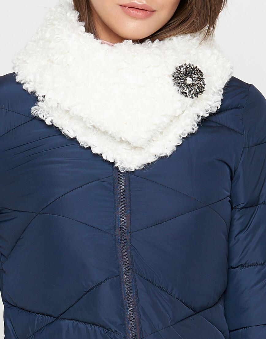 Куртка синяя женская на молнии модель 5266 фото 4