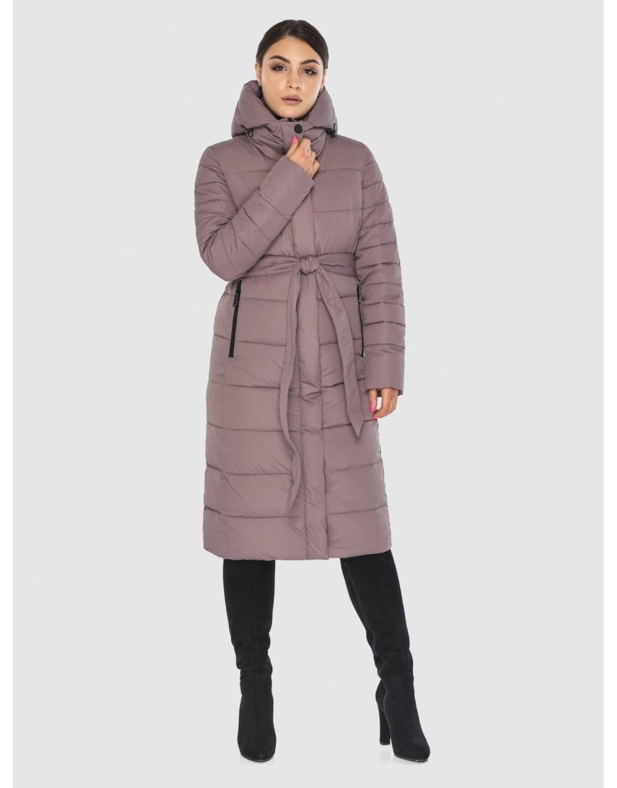 Длинная женская куртка Wild Club цвет пудра 538-74 фото 1
