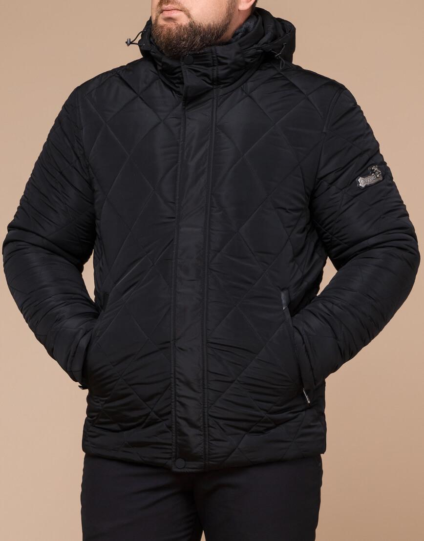 Мужская куртка зимняя цвет черный модель 19121 оптом фото 1