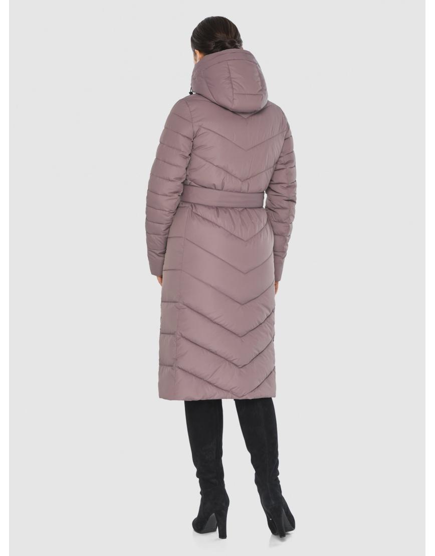 Длинная женская куртка Wild Club цвет пудра 538-74 фото 4