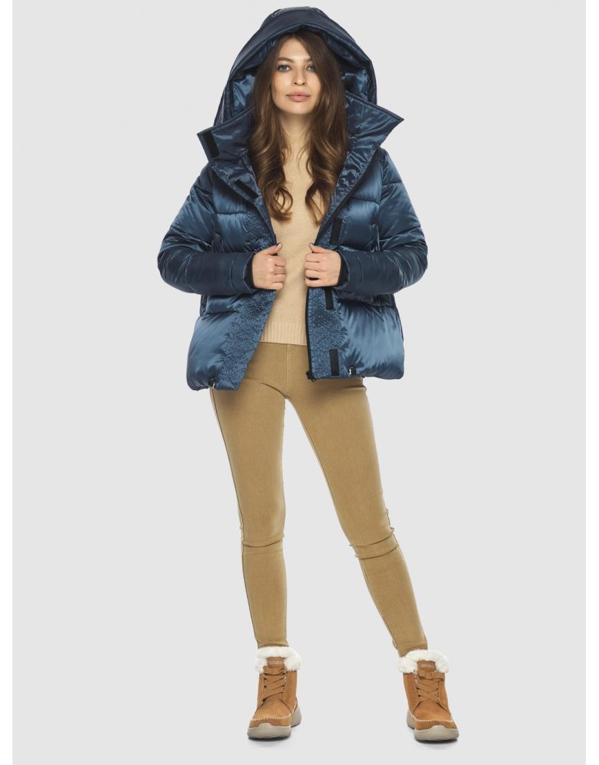 Куртка женская Ajento трендовая синего цвета 23952 фото 6