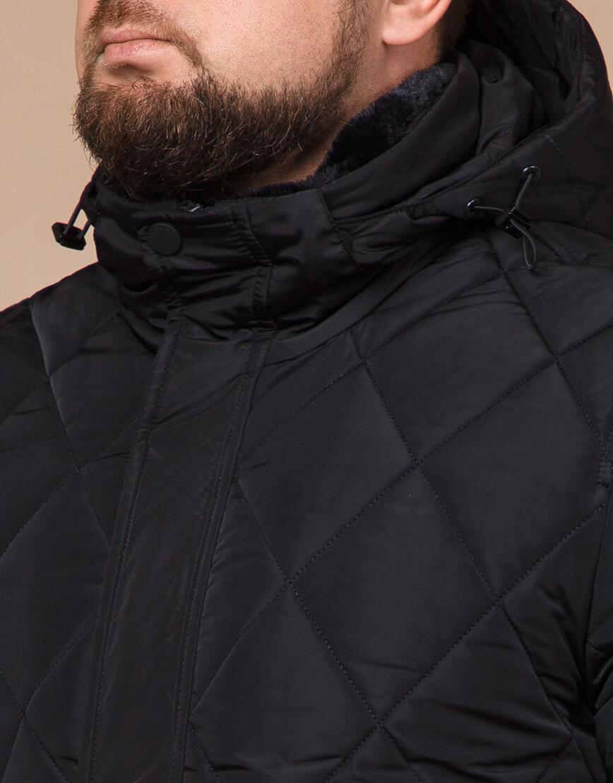 Мужская куртка зимняя цвет черный модель 19121 оптом фото 4