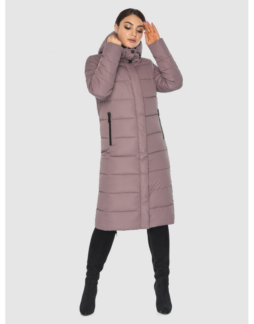 Длинная женская куртка Wild Club цвет пудра 538-74 фото 6