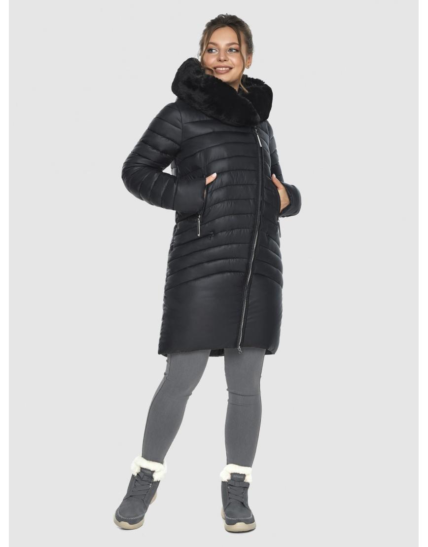 Зимняя подростковая чёрная куртка Ajento модная 24138 фото 3