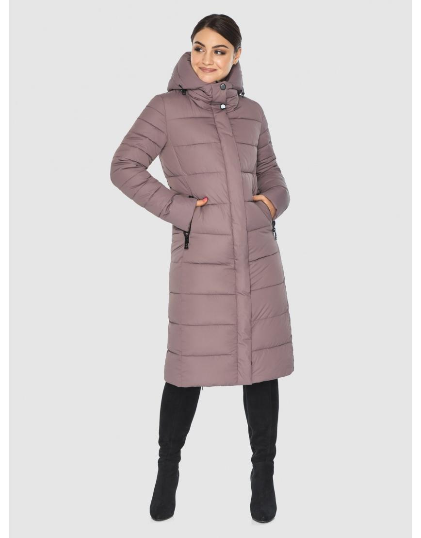 Длинная женская куртка Wild Club цвет пудра 538-74 фото 3