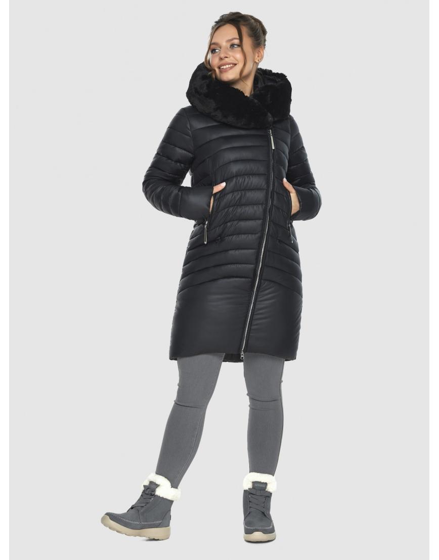 Зимняя подростковая чёрная куртка Ajento модная 24138 фото 5