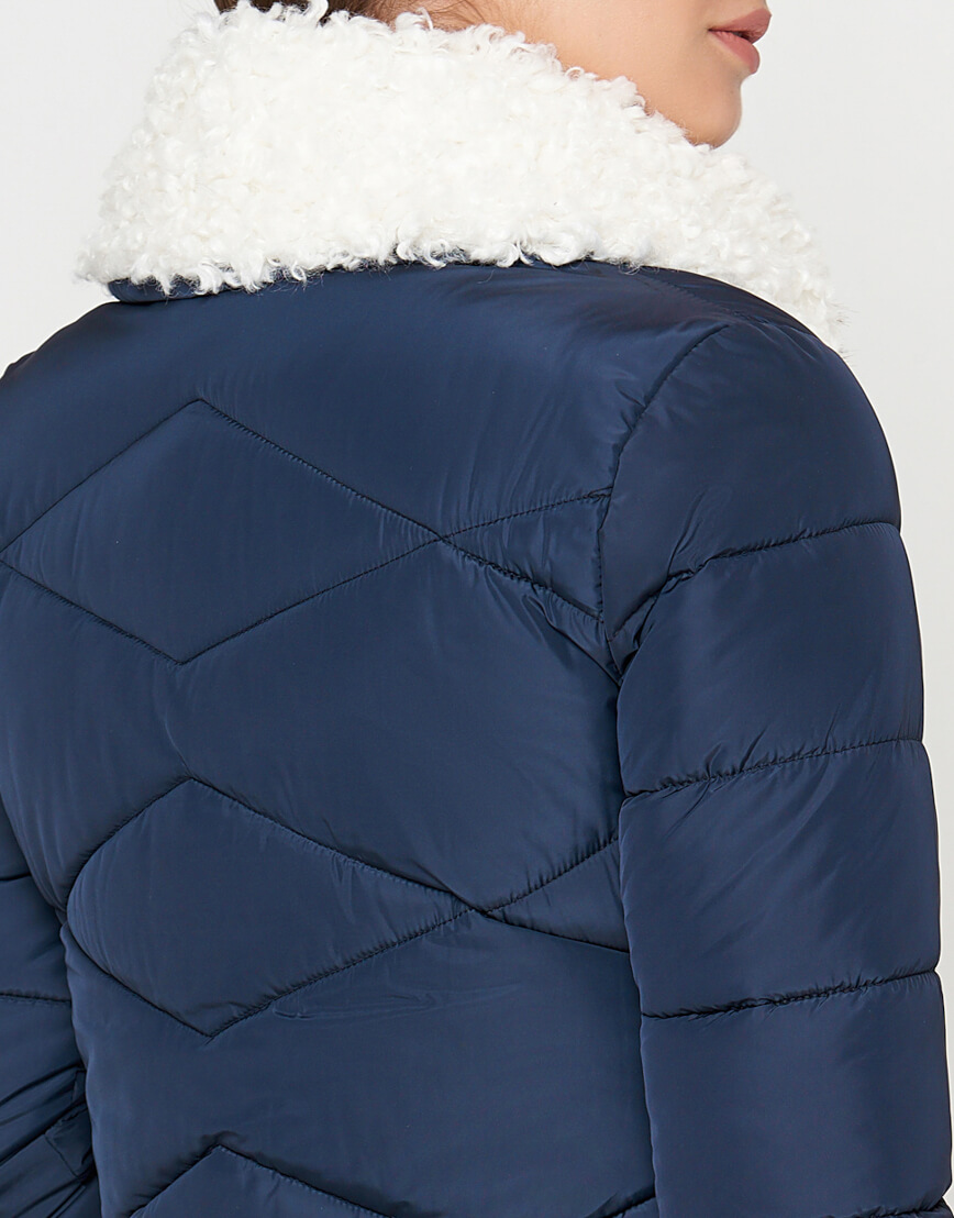 Куртка синяя женская на молнии модель 5266 фото 5