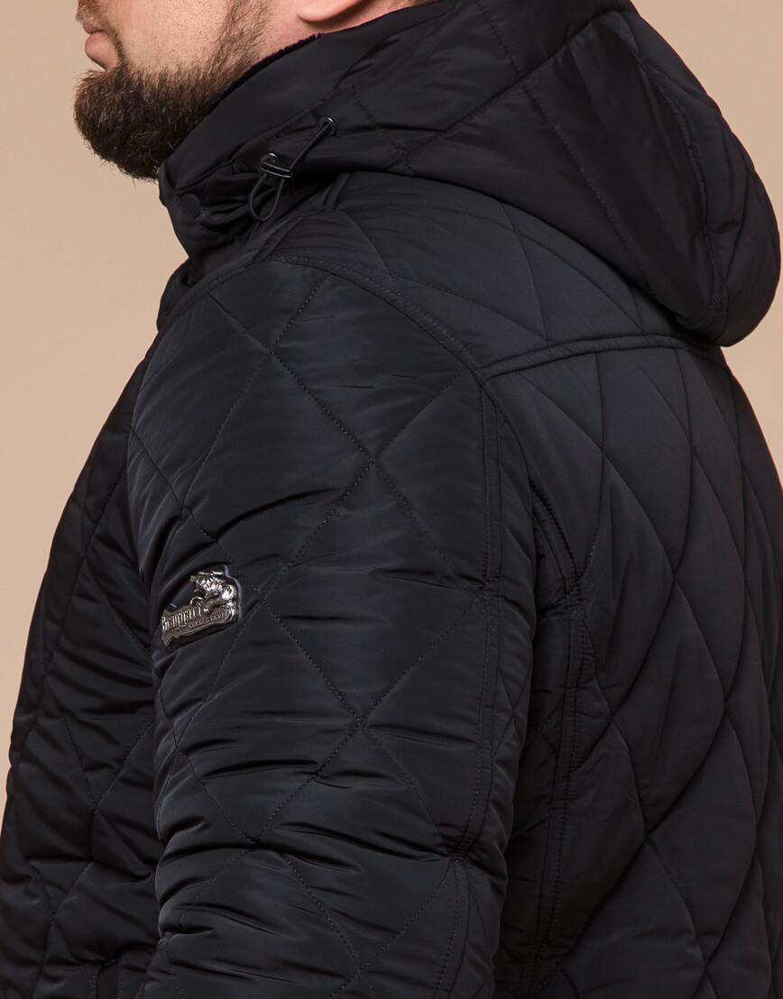 Мужская куртка зимняя цвет черный модель 19121 оптом фото 6