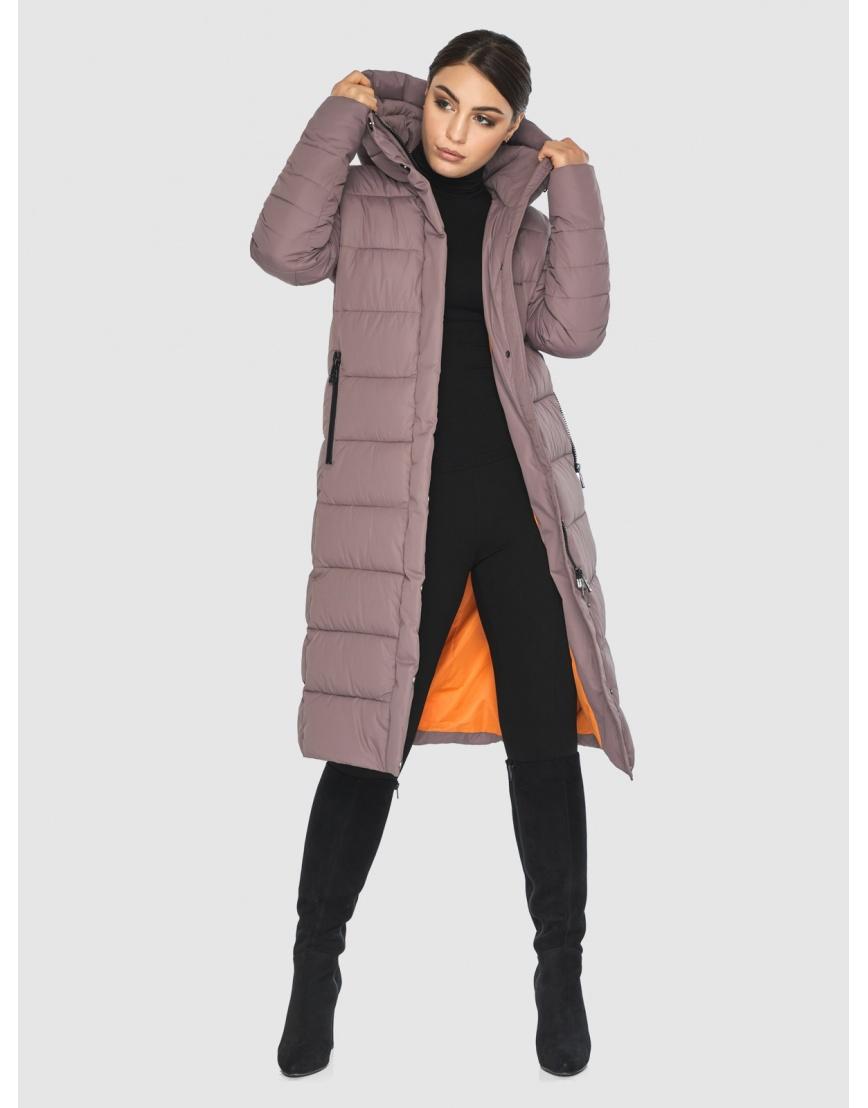 Длинная женская куртка Wild Club цвет пудра 538-74 фото 2