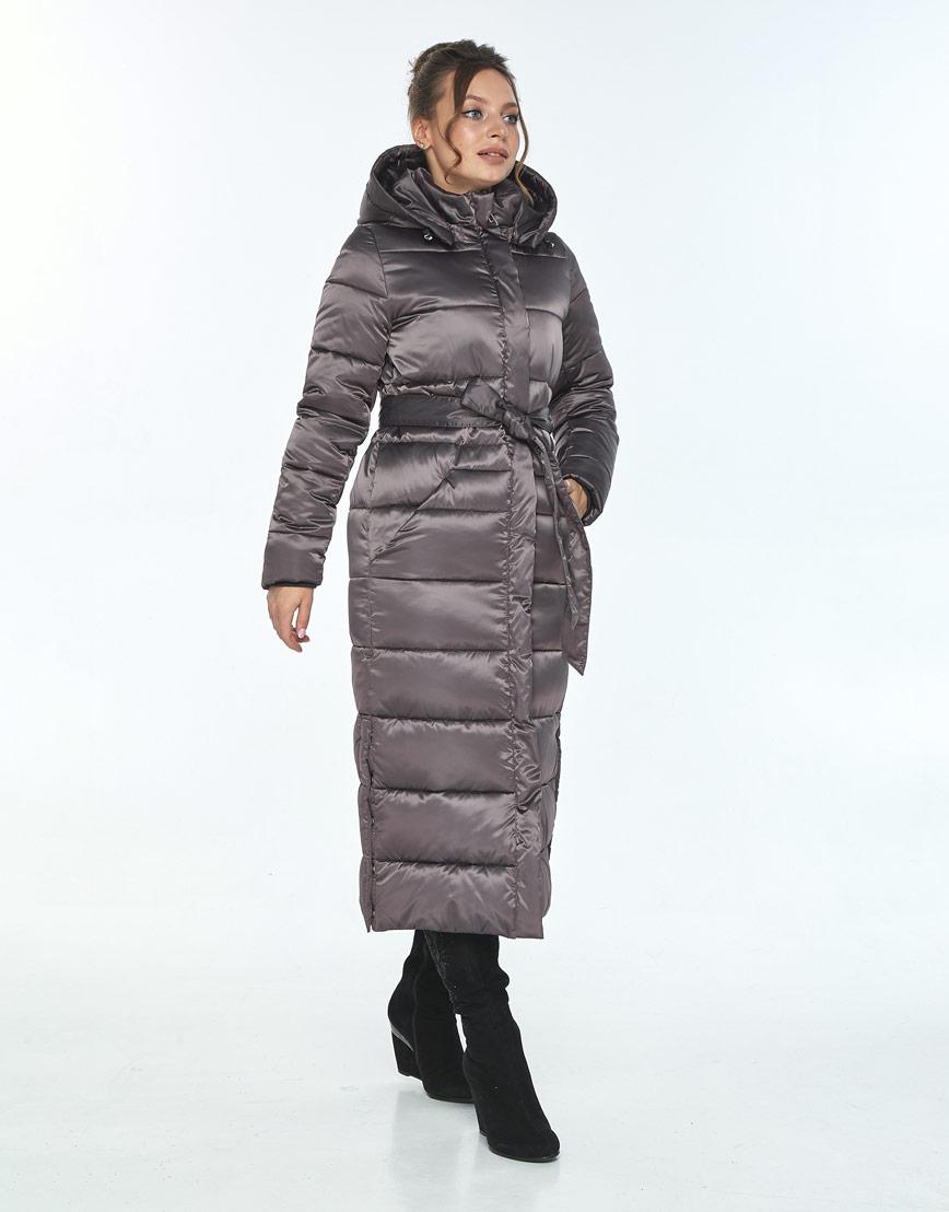 Длинная куртка женская Ajento капучиновая 21207 фото 2