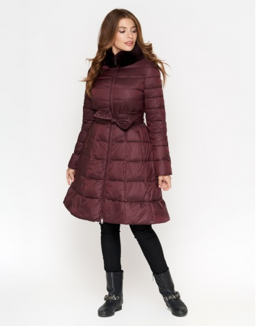 Куртка бордовая современная женская модель 7319