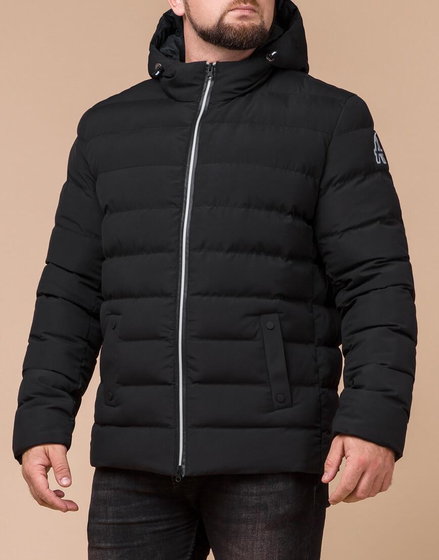 Стильная мужская куртка цвет черный-серебро модель 45115 фото 2