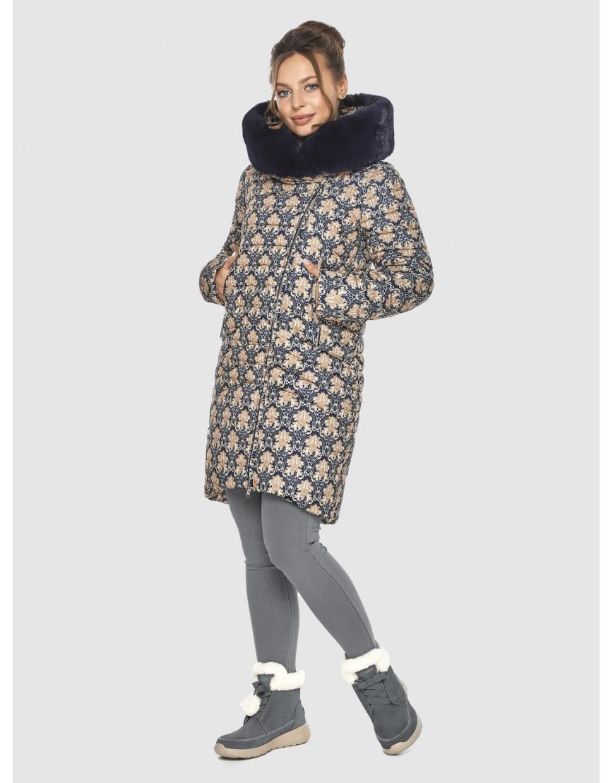 Стёганая куртка с рисунком подростковая Ajento для зимы 24138 фото 6