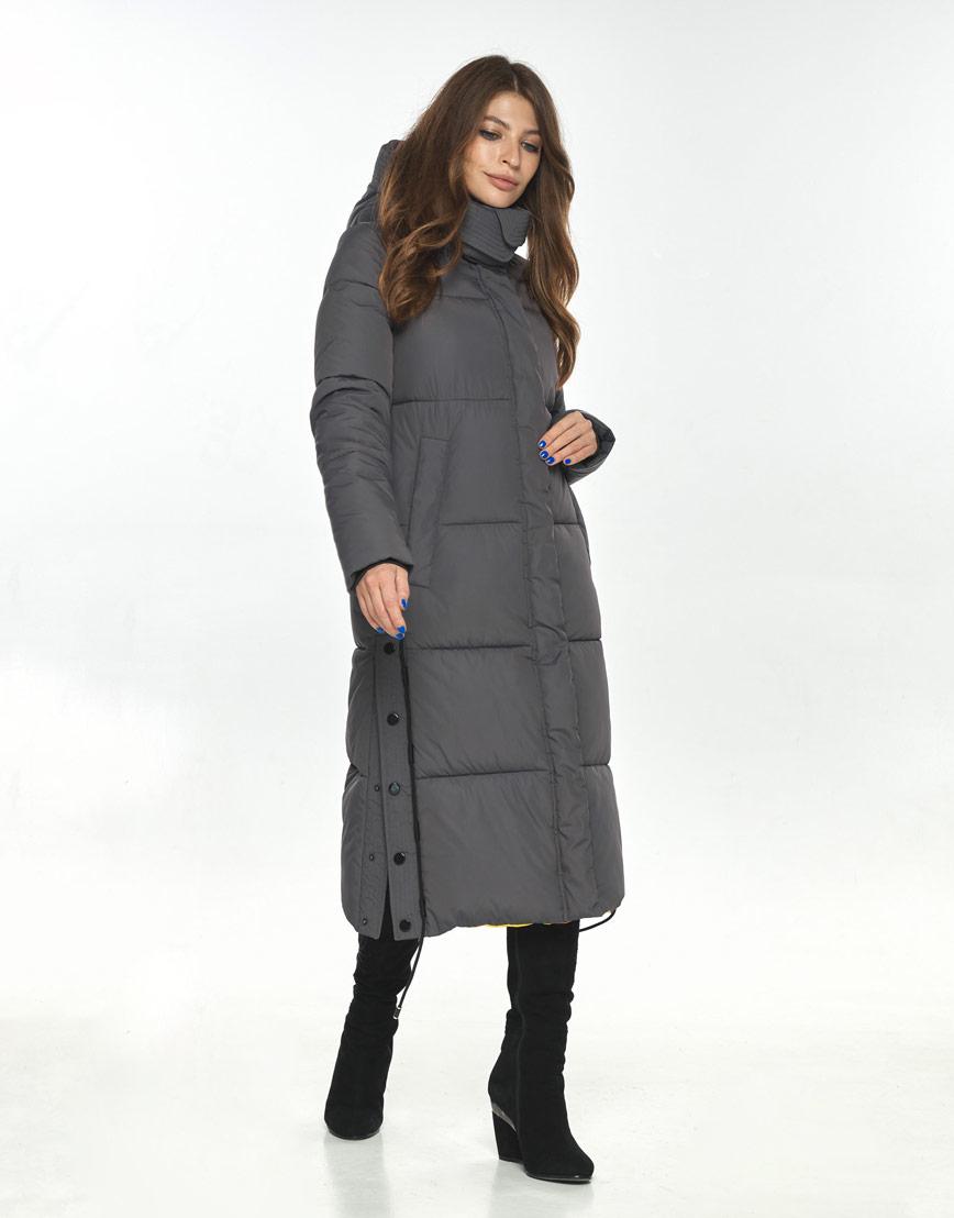 Куртка Ajento серая женская на зиму 23160 фото 2