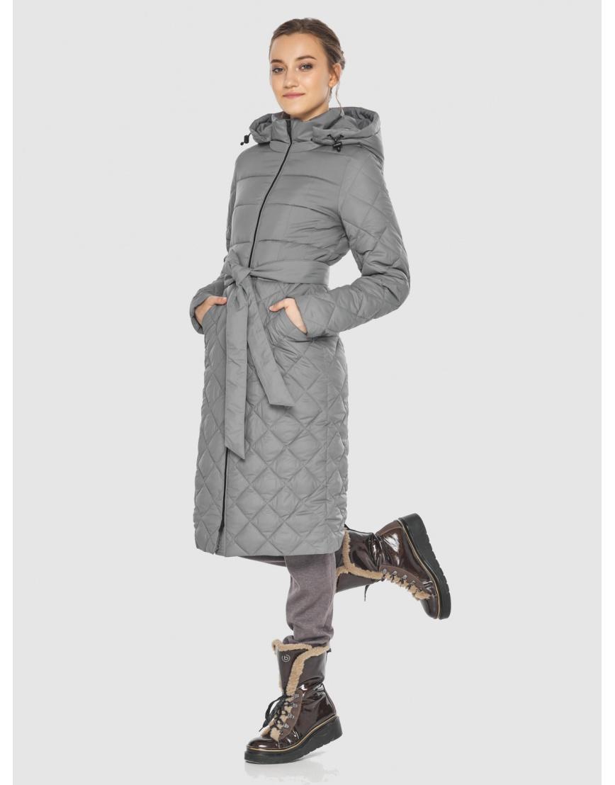 Элегантная женская куртка серая Wild Club 567-80 фото 3