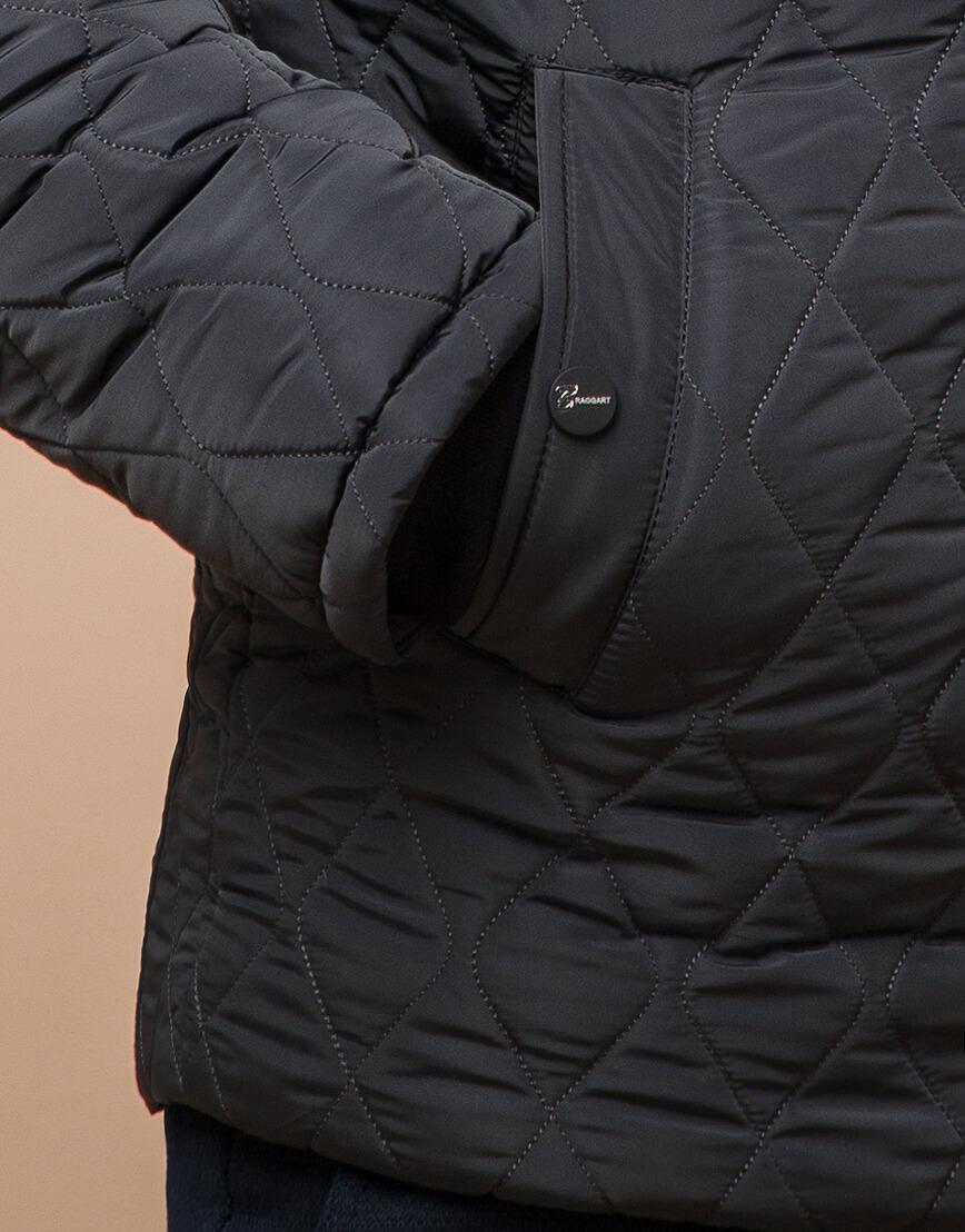 Графитовая мужская куртка зимняя модель 24534 оптом фото 5