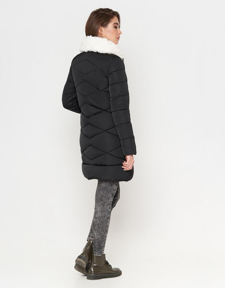Куртка черная женская с карманами модель 5266