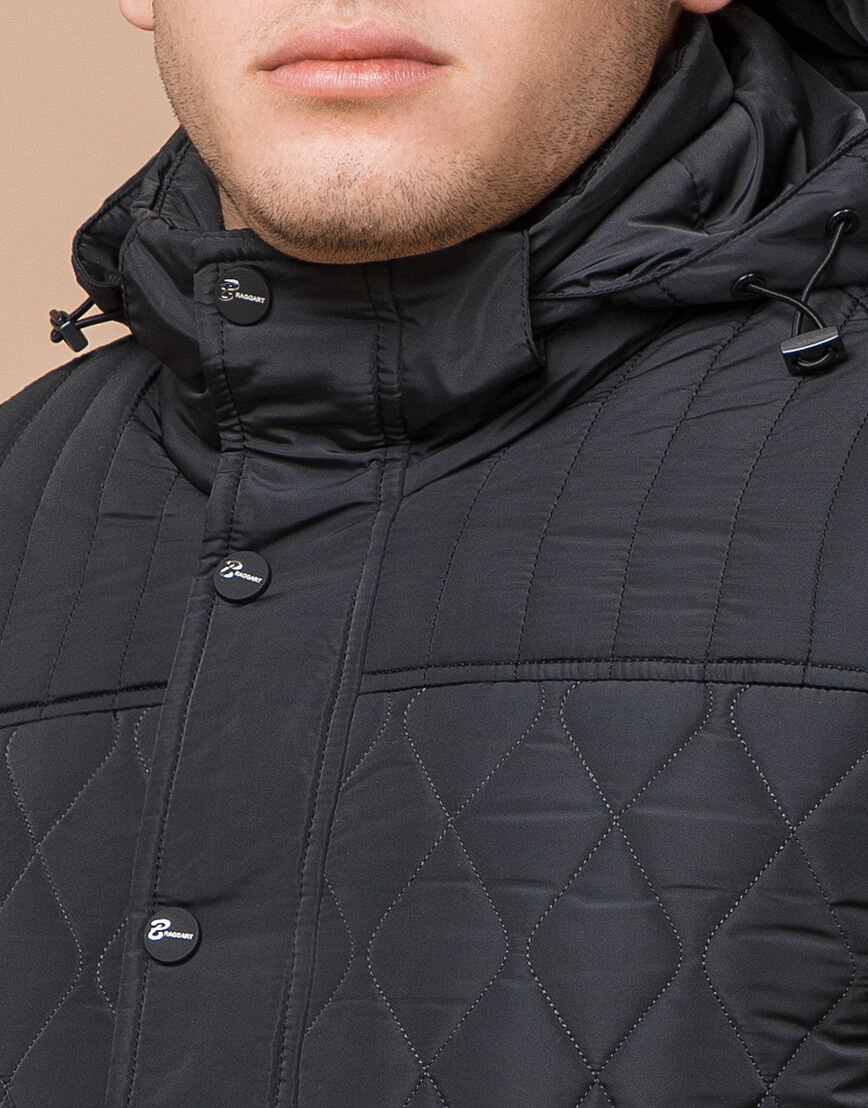 Графитовая мужская куртка зимняя модель 24534 оптом фото 4