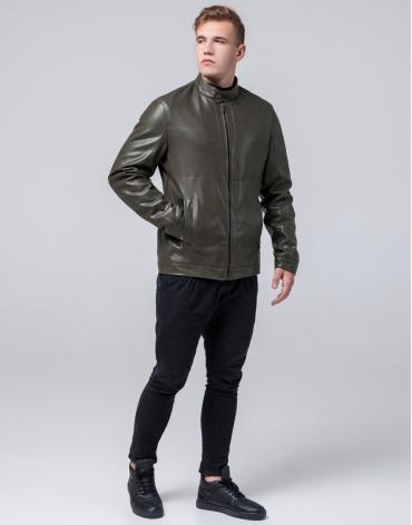 Молодежная куртка стильного дизайна цвет хаки модель 2193 фото 1