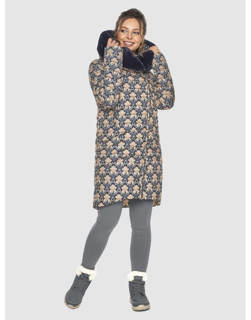 Стёганая куртка с рисунком подростковая Ajento для зимы 24138 фото 2