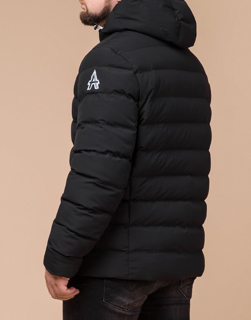 Стильная мужская куртка цвет черный-серебро модель 45115 фото 3