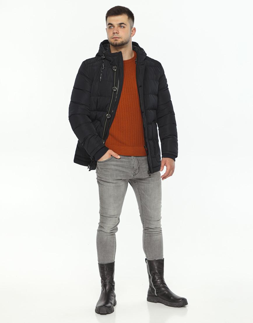 Куртка черная зимняя модель 44516