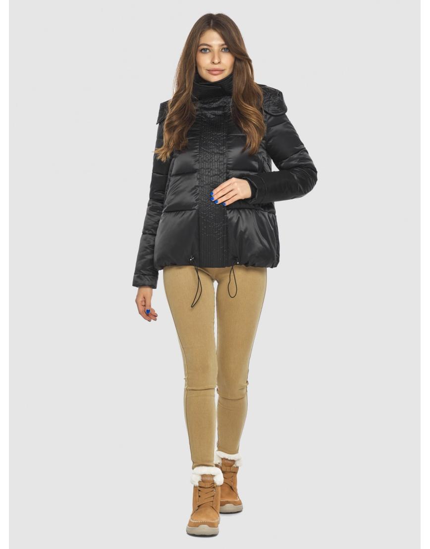 Чёрная куртка практичная женская Ajento 23952 фото 6