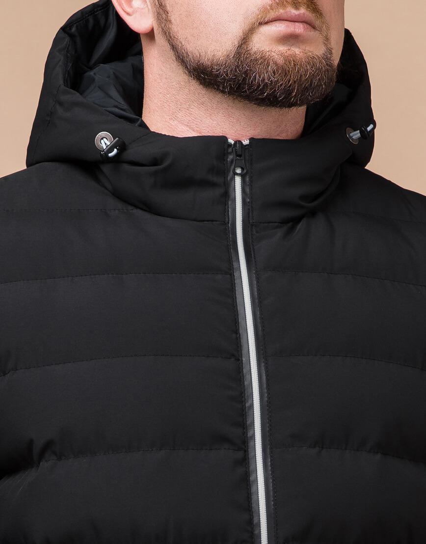 Стильная мужская куртка цвет черный-серебро модель 45115 фото 4