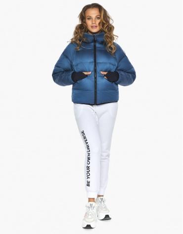 Пуховик куртка Youth аквамариновая молодежная модная модель 26420 фото 1