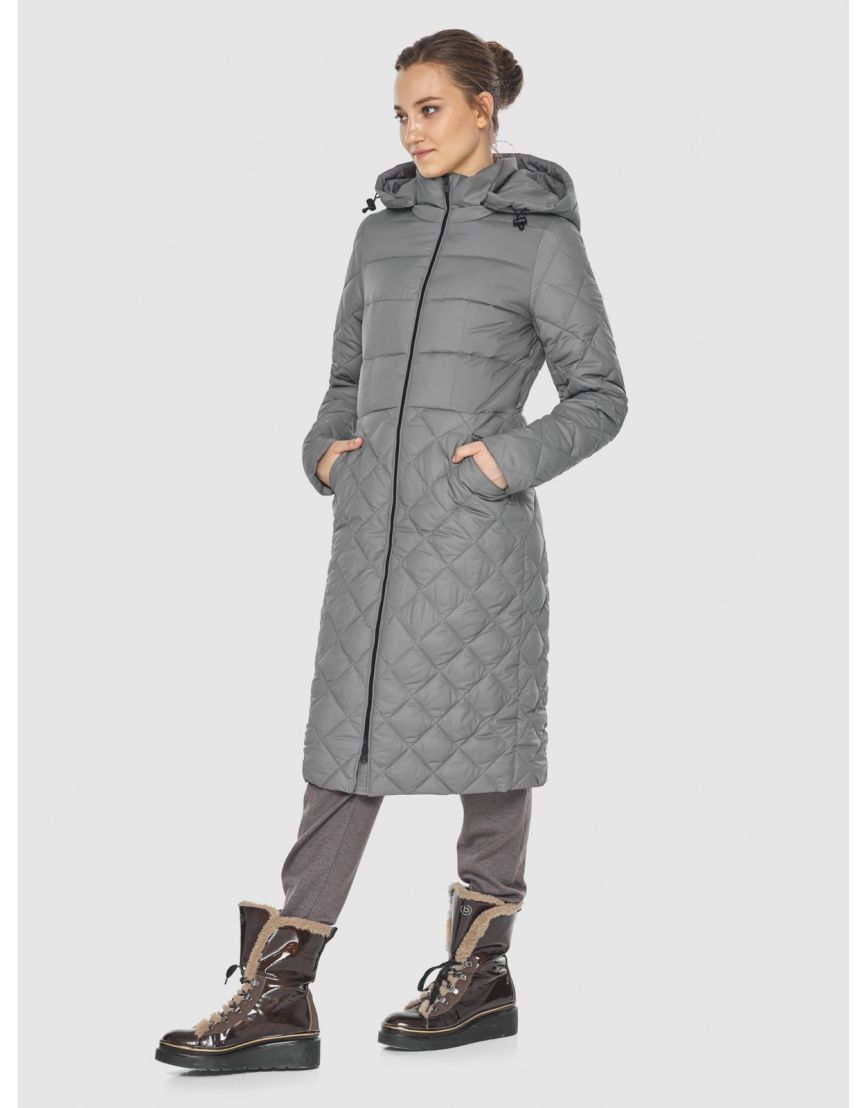Элегантная женская куртка серая Wild Club 567-80 фото 5