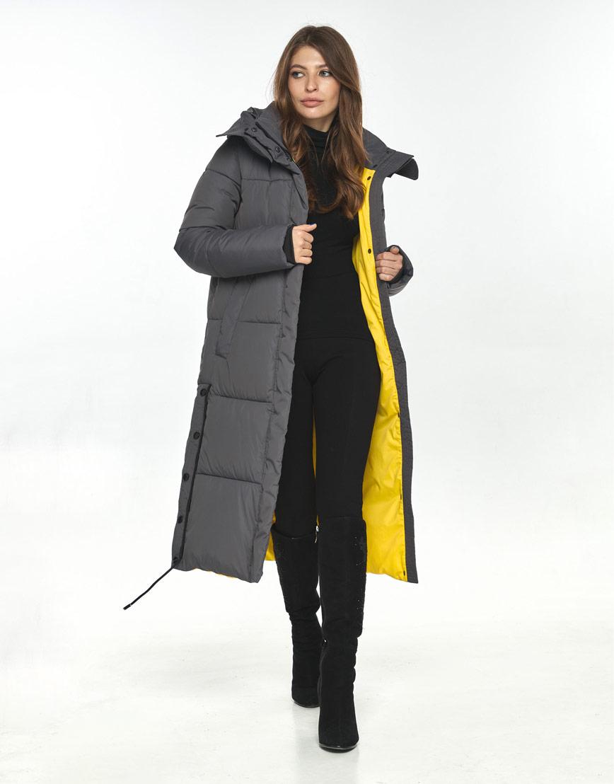 Куртка Ajento серая женская на зиму 23160 фото 1