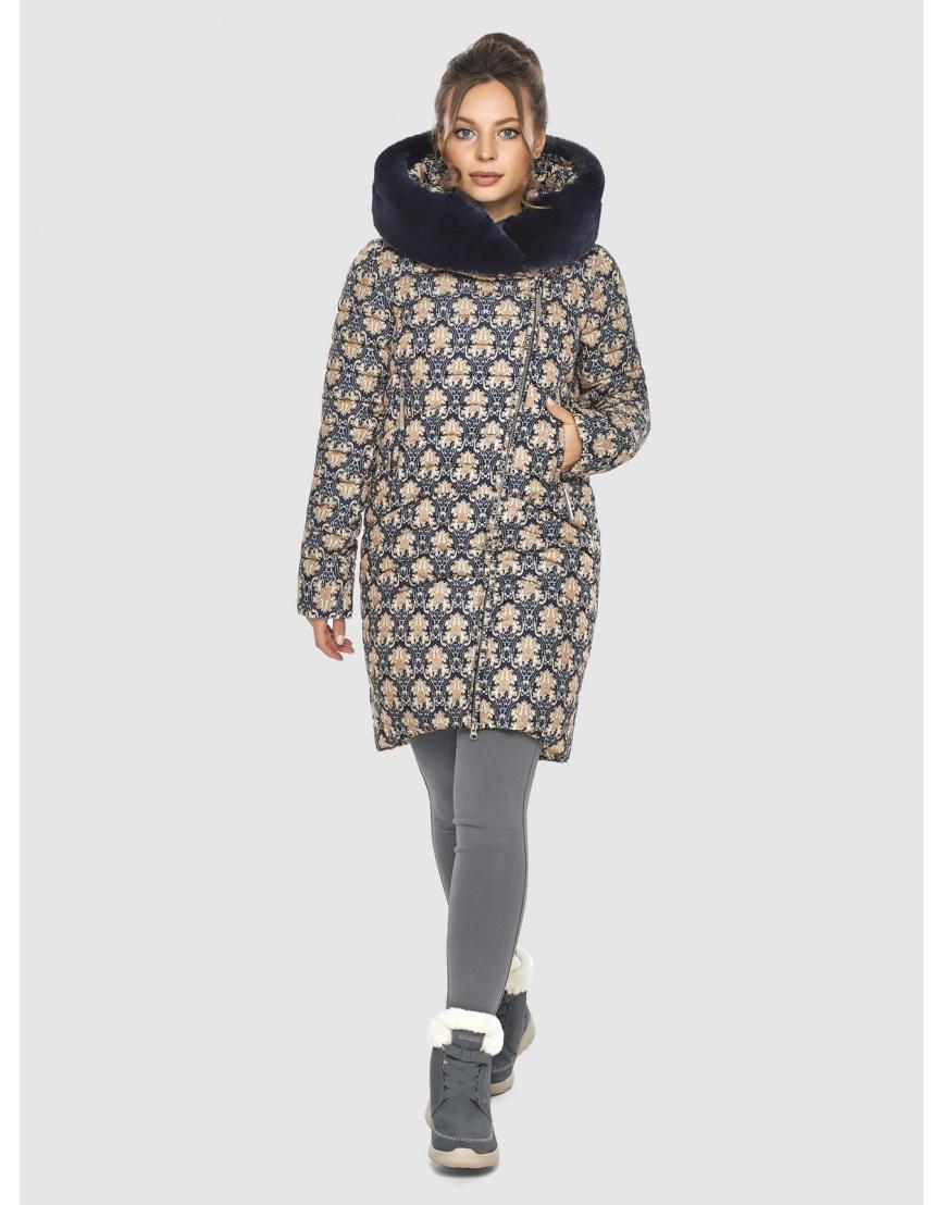 Стёганая куртка с рисунком подростковая Ajento для зимы 24138 фото 3