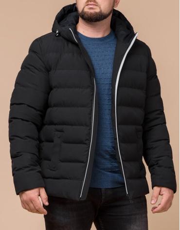 Стильная мужская куртка цвет черный-серебро модель 45115 фото 1