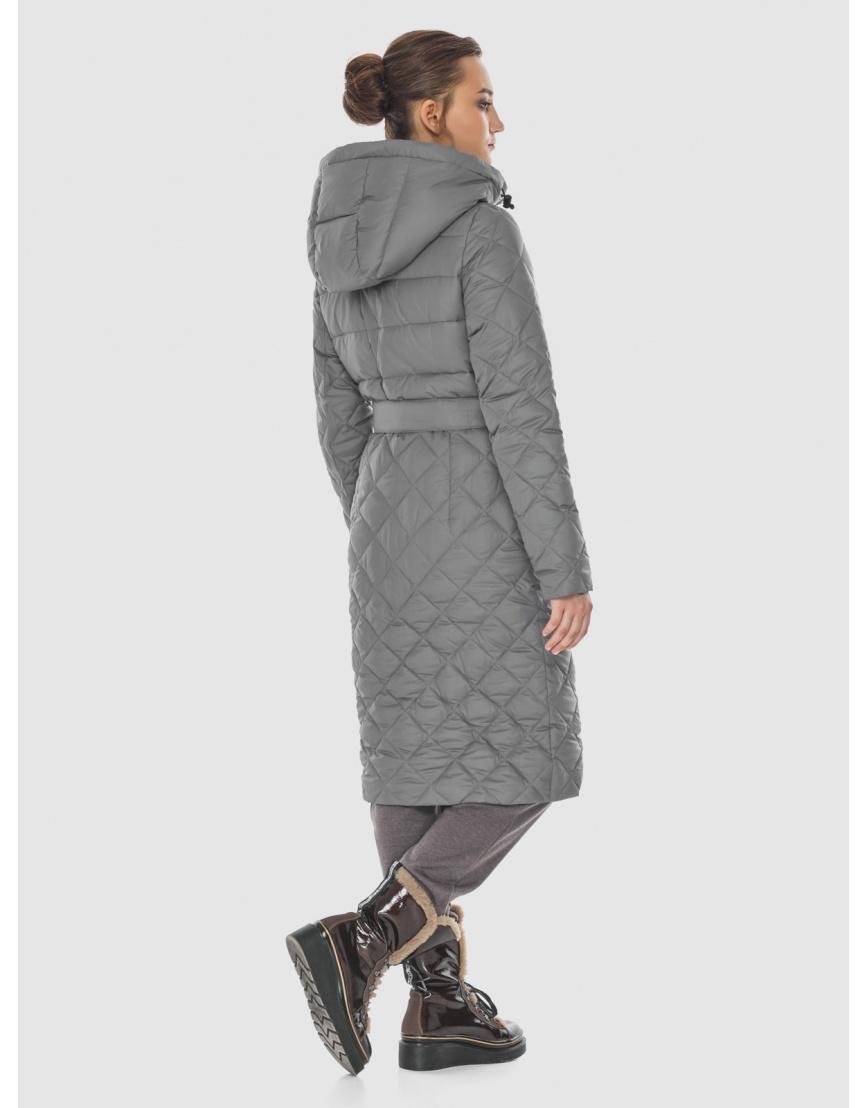 Элегантная женская куртка серая Wild Club 567-80 фото 4