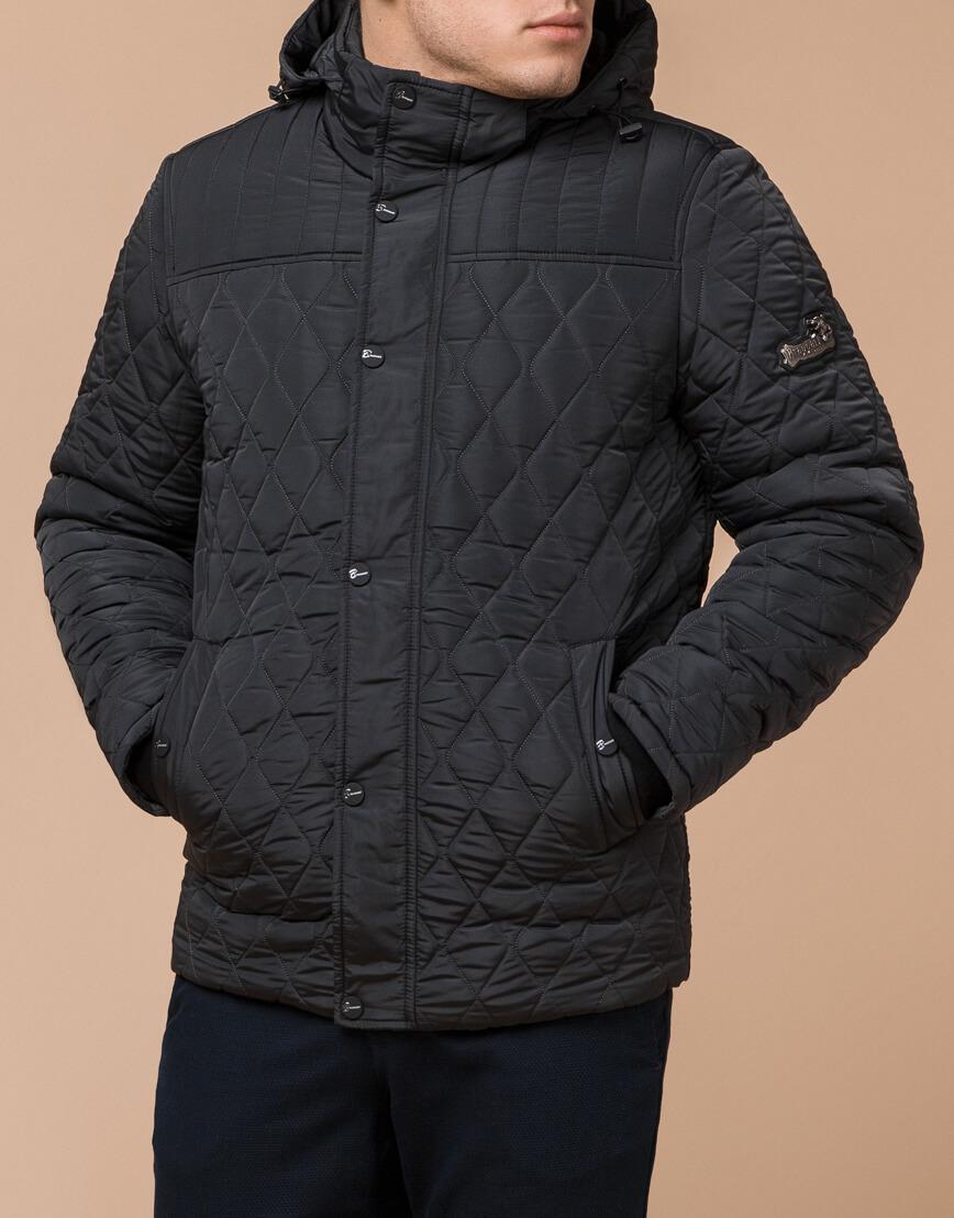 Графитовая мужская куртка зимняя модель 24534 оптом фото 2