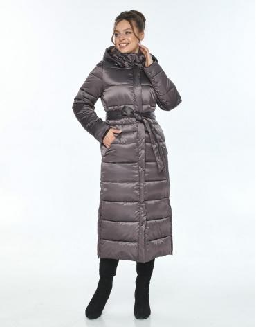 Длинная куртка женская Ajento капучиновая 21207 фото 1